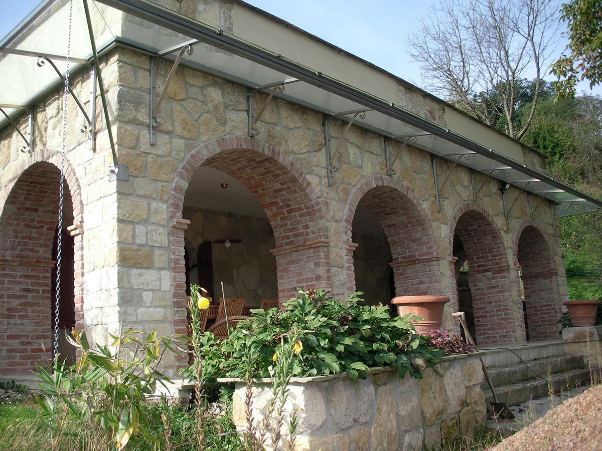 Gartengestaltung Gewölbe Außen